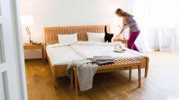 Bett Zebra - die Ruhe des Waldes im Schlafzimmer|Bettgestell Zebra Mit Kopfteil